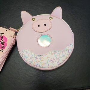 Betsey Johnson this little piggy wristlet